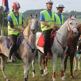Members of the Croatian team which won the gold medal at the recent FEI Balkan Endurance Championships held in Belgrade (SRB)