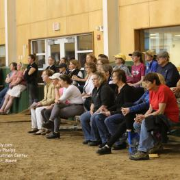 The clinic Freestyle was well attended at the Equestrian Center at Pineland Farm.Photo: © Mary Phelps