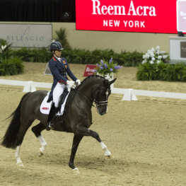 Defending champions, Great Britain's Charlotte Dujardin and Valegro, lived up to expectations winning the Grand Prix on the opening day of the Reem Acra FEI World Cup™ Dressage Final (FEI/Dirk Caremans)