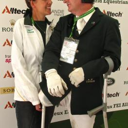 """We were always friends and competitors,"" says Philippa Johnson-Dwyer meeting James after his ride at the Alltech FEI World Equestrian Games 2014 in Normandy."