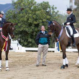 Jan Ebeling, Brian O'Connor and Steffen Peters at the Mid Winter Dressage CDI