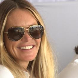 Elle Macpherson joined VIP guests at the Longines Global Champions Tour of Miami Beach. (Photo: Stefano Grasso/LGCT)