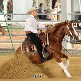 Félix Lejour riding his 7-year-old Paint Horse stallion, Smokin Boom (Photo: Andrea Bonaga)