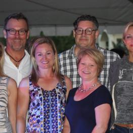 The Kanes, Davises, and Boyers continue to support dressage's future generation at the youth dressage party at Diamante Farms. Back row L to R: Micheal Davis, Fred Boyer, and Kim Boyer. Front row L to R: Sarah Davis, Devon Kane, and Terri Kane