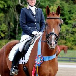 Lauren Chumley and Flash Gordon SE will compete at the 2014 US Dressage Finals in Lexington, KY. (Photo: Peggy Christ)