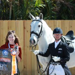Great teamwork earns Nicholas Fyffe (right) and Banzai LS the GumBits Happy Horse Harmony Award