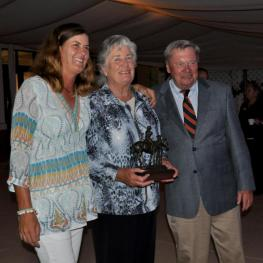 Gillian and Gil Johnston, who was awarded the Lifetime Benefactor Award with Dick Riemenschneider (Photo:Alannah Castro)