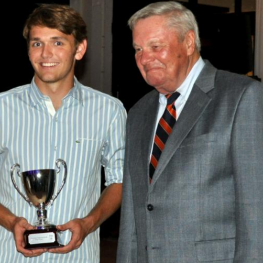 Grant Ganzi, Most Improved Youth Player and Dick Riemenschneider (Photo:Alannah Castro)
