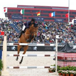 Flying Dutchman Harrie Smolders and his super fast 15-year-old bay mare Regina Z blazed to victory in the Longines Global Champions Tour of Shanghai. Photo: Stefano Grasso/LGCT