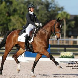 Chrissa Hoffman and Faustus Swedish Warmblood Fidertanz x Liberty Son v Lord LibertyPhoto: © Mary Phelps