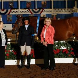 Jen Alfano earned Grand Hunter Champion honors on Maggie May. Photo by CreeksideFoto.com