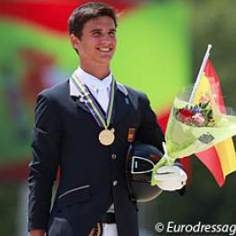 Juan Matute Guimon wins kur to music gold at the 2015 European Junior Riders Championships Photo © Astrid Appels