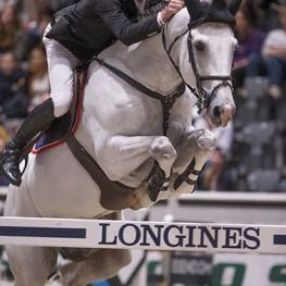 The on-form Dutchman, Jur Vrieling, won the opening leg of the Longines FEI World Cup™ Jumping 2014/2015 Western European League series at Oslo in Norway today. (FEI/Roger Svalsroed).