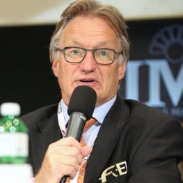 Frank Kemperman, Chair of the FEI Dressage Committee, addressed the FEI Sports Forum 2015 today at the IMD in Lausanne (SUI) (Photo: FEI/Germain Arias-Schreiber)