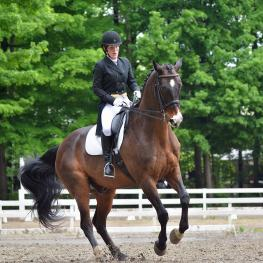 Krystal Wilt, of Sand Lake, NY is the winer of the inaugural Karen Skvarla Fund Grant from the Dressage Foundation (Photo: Pat Hendrick Photography)