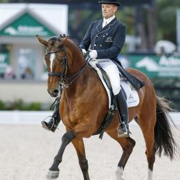 FEI 5* Grand Prix champions Lars Petersen and Mariett ride to victory in a Sommer saddle from The Horse of Course (Photo: SusanJStickle.com)