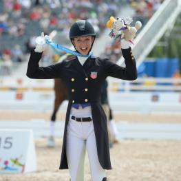 Laura Graves (USA) wins Silver at the Pan American Dressage Games, Toronto, 2015  Photo: © Diana De Rosa