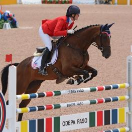 Lauren Kieffer and Meadowbrook's Scarlet (Photo: Jenni Autry/Eventing Nation)