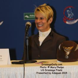 Amateur Reserve Second Level Champion Viki Meyers handled her press conference like a pro.