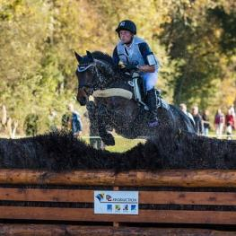German star, Michael Jung, steered the Hannoverian, Star Connection, to win the 6-Year-Old category at the FEI World Breeding Eventing Championships for Young Horses 2014 at Le Lion d'Angers in France yesterday. (FEI/EventingPhoto.com)