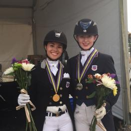Gold Medalist and Natalie Pai and Silver Medalist Catherine Chamberlain