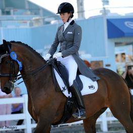 Olivia Lagoy-Weltz and Rassings Lonoir winners of the Intermediaire 1 Freestyle (Photo: Hoof Print Images)