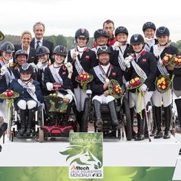 """Parabéns"" - Great Britain, The Netherlands and Germany score their Rio 2016 Paralympic Games team spots at the Alltech FEI World Equestrian Games™ 2014 (Jon Stroud/FEI)"
