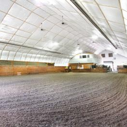 60x100' Arena with Douglas Fir Kick Walls and Mirrors