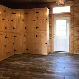 Heated Tack Room - private, individual lockers