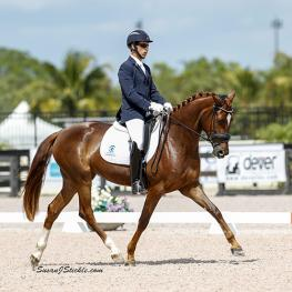 Sahar Daniel Hirosh and Lisa Grossi's Hanoverian mare D'Espirit Joli (Photo: SusanJStickle.com)