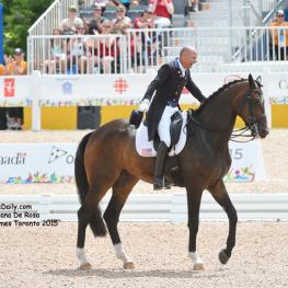 Steffen Peters and Legolas 92 after their gold medal ride. Photo: © Diana De Rosa