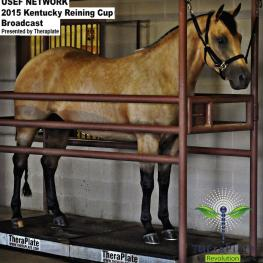TheraPlate Revolution sponsors USEF Network's live broadcast of the Kentucky Reining Cup. (Photo taken at the Equine Spa and Rehabilitation Center at Tom McCutcheon Reining Horses; photo courtesy of Kat Paschal for McCutcheon Media)