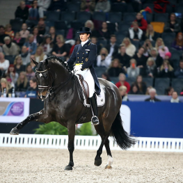 Photo Caption: Sweden's Tinne Vilhelmson-Silfven and Don Auriello stepping it out in style on their way to victory! (Photo: FEI/Roland Thunholm)