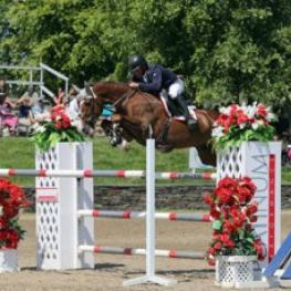 Todd Minikus and Arino Du Rouet jump to their second HITS Saugerties win this year in the $50,000 Horze Equestrian Grand Prix presented by Zoetis. ©ESI Photography