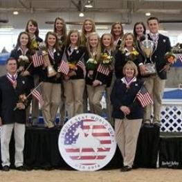The Victorious U.S. Saddle Seat World Cup Team (Rachel Kelley)