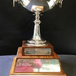 The winning trophy for the Florida International Dressage Youth Championships