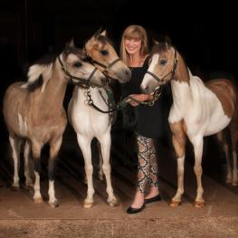 Mary Phelps and her Classic American Shetland Ponies