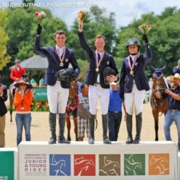 Wilton Porter, center, won the Individual Gold Medal at NAJYRC this year. Photo by Kendall Bierer
