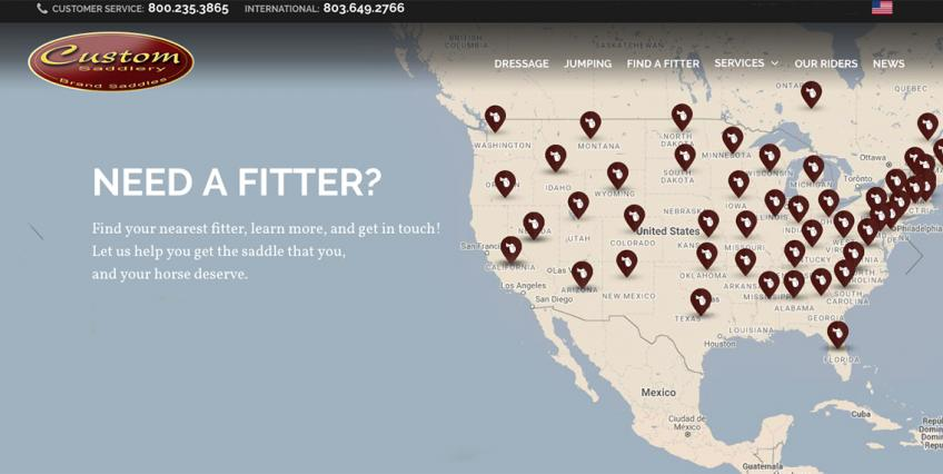 Custom Saddlery Find a Fitter Map
