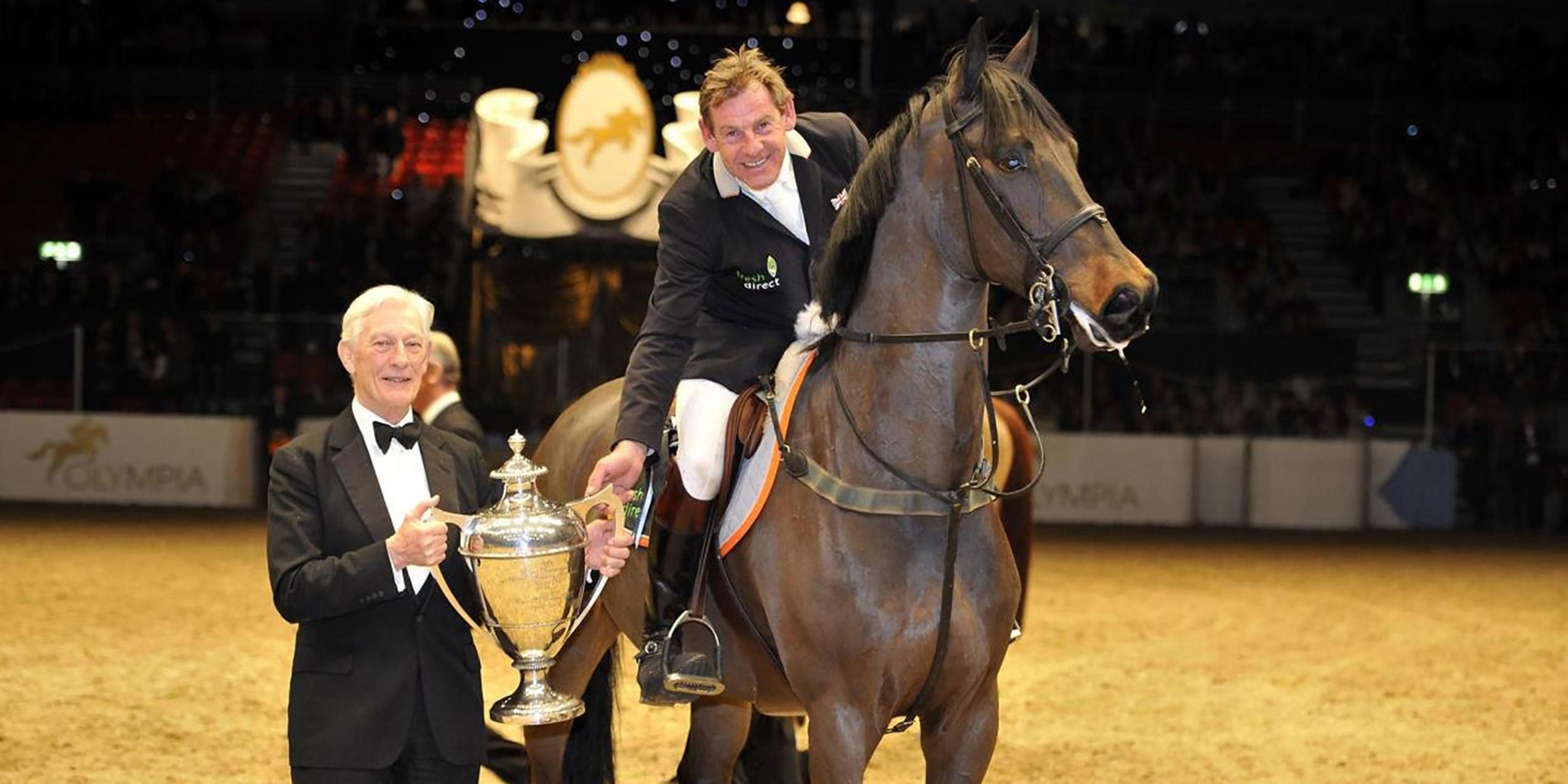 Tim Stockdale at the London Olympia Horse Show